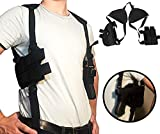 Holster Concealed Shoulder for Pistols | Fully Adjustable Comfortable | Thin Profile | Double Magazine Holder | 2' to 4' Barrel Side Arm | Extra Pocket Above Side Arm Holster | It's a Nice Holster