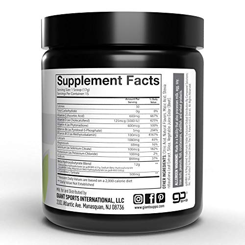 Giant Keto-Exogenous Ketones Supplement - Beta-Hydroxybutyrate Keto Powder Designed to Support Your Ketogenic Diet, Boost Energy and Burn Fat in Ketosis - Raspberry Lemonade - 15 Servings … 6
