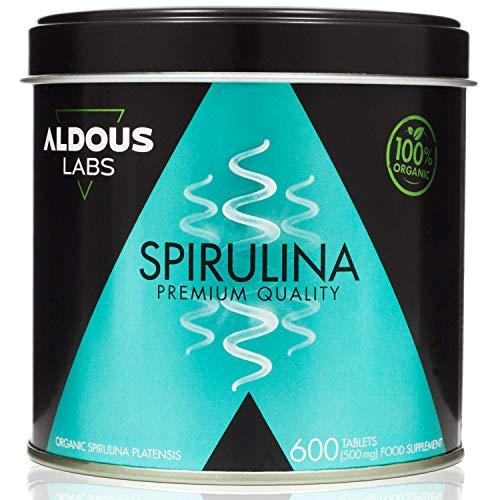 Espirulina Ecológica Premium para 18 Meses | 600 comprimido