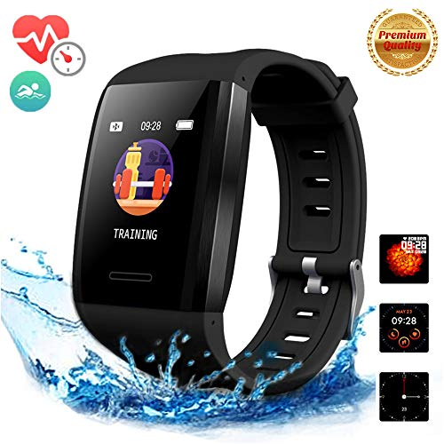 Fitness Tracker with Heart Rate and Blood Pressure Monitor,Smart Watches,Activity Tracker Watch Waterproof,Smart Sports Bracelet,Pedometer Sleep Monitor Calorie Counter Watch