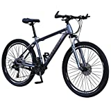 Hybrid Bike, Kptoaz 26 Inch Mountain Bicycle Outroad Bikes,Junior Carbon Steel Full Mountain Bike 21 Speed Dual Sport Bicycle