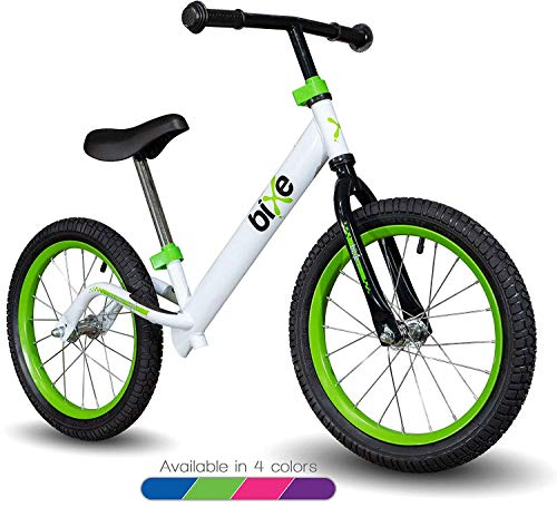 Green Pro Balance Bike for Big Kids and Kids with Special Needs - 16' No Pedal Glide Training Bicycle For Children Ages 5,6,7,8. Peddle-Less Bike Made For Fun Learning.