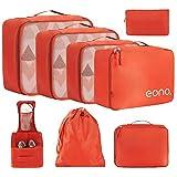 Eono by Amazon - Juego de organizador de maletas de 8, cubos de viaje, cubos de embalaje, organizador de maletas ...