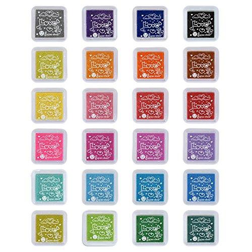 Pretop Set [24 Farben] Stempelkissen für Papierarbeiten, DIY, Handwerk, Fingerabdruck,Scrapbook