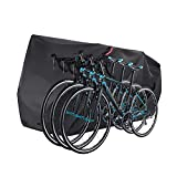 Bumlon Bike Cover for 3 Bikes with 3 Lock Hole Safety Loops Waterproof Bicycle Covers Outdoor Storage XXXL Bicycle Trap for Beach Cruiser Mountain Bike 210D