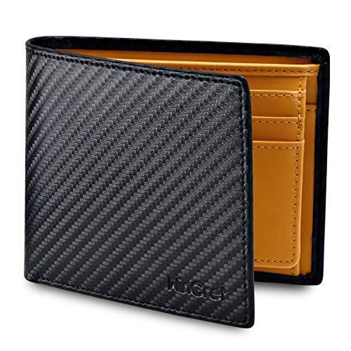 WinCret Geldbeutel Männer   Portemonnaie Herren mit Pull-Tab und Münzfach RFID-Schutz - Echtem Leder Portmonaise Geldbörse Portmonee im Querformat Geschenk Wallet