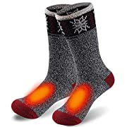WARMEST AND MOST COMFORTABLE: Arctic Extreme Thick Socks by Sunew. Our heavy crew socks are strong and durable enough to keep your skin cozy. Winter thermal socks for men, women. Cold weather socks with padded comfort provide good insulation, creates...