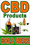 CBD Products Sold here 24'x36' Advertising Poster Sign