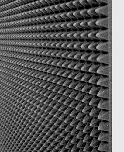 10 Pannelli fonoassorbente 100x100x3 Cm 10mq piramidale per correzione audio in poliuretano...
