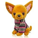 Mar's Designs - Perritos de Peluche - Peluche Perro Chihuahua con Jersey de Punto - Mide 22 cm y es Muy Suave - Regalo niña 3 años - Juguetes niños 3 años - Perro Juguete - Cachorro