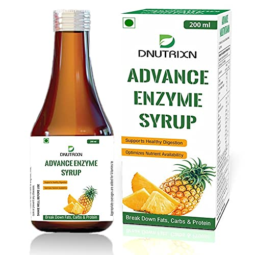 DNUTRIXN Advance Enzyme Syrup - 200ml For Healthy Digestion, Helps in Weight Gain and Optimizes Nutrient Availability | Acidity