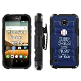 Huawei Union Y538 Phone Cover, Keep Calm and Play Ball - Tampa Bay- Blitz Hybrid Armor Phone Case for [Huawei Union Y538] with [Kickstand and Holster]