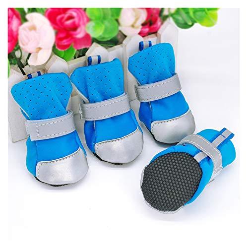 Botas Para Perros Zapatos de gato a prueba de agua para perros invierno calcetines cálidos perritos de perrito antideslizante lluvia nieve botas para mascotas protectores de pata para perros pequeños