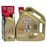 Castrol 468567 Edge 5W-30 LL, Huile Moteur, 5 + 1L