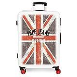 Pepe Jeans World Maleta mediana Multicolor 48x68x26 cms Rígida ABS Cierre combinación 70L 3,7Kgs 4 Ruedas dobles