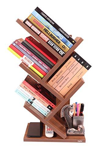 Captiver Kriss Kross Table Accessories Stand Classic Walnut/Shelf Shelves Rack Holder