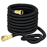 VicTsing Expandable Garden Hose, 50ft Water Hose with On/Off Valve, 3/4' Solid Brass Connector and Double Latex Core for Watering Plants, Auto Wash, Cleaning Patio + Free Storage Bag