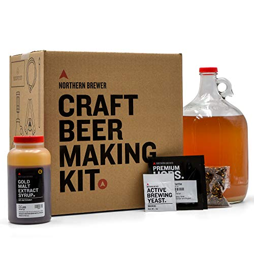 Northern Brewer - 1 Gallon Craft Beer Making Starter Kit, Equipment and Beer Recipe Kit (Caribou Slobber Brown Ale)