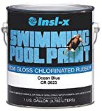 COMPLEMENTARY COATINGS CHL RB PP CR2623092-01 INSL-X Ocean Blue Chlorinated Rubber Swimming Pool Paint, 1-Gallon, 1 Gallon