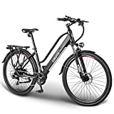"""ESKUTE 28""""Vélo Electrique Vélo à Assistance Electrique 250W Vélo de Ville, Batterie Lithium-ION 36V/10Ah Amovible Cachée, Shimano 7 Vitesses, Frien à Double Disque, e-Bike Urbain pour Adulte"""