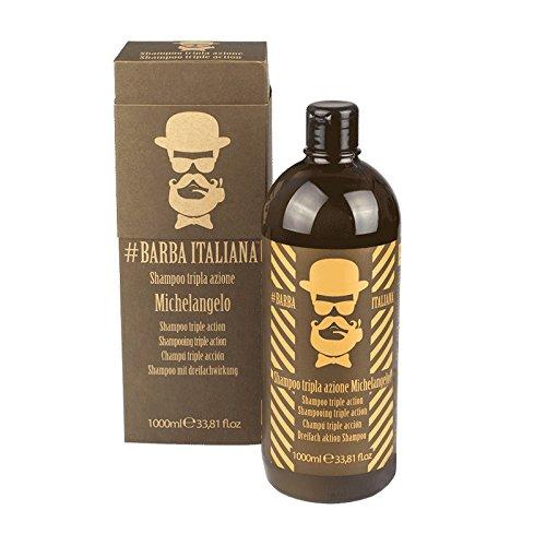 Barba Italiana Shampoo per Capelli - Tripla Azione Michelangelo - 1 litro