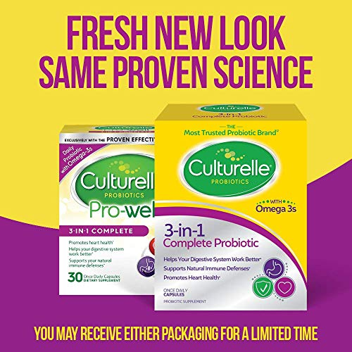 Culturelle Pro-Well 3-in-1 Complete Daily Formula, Once Per Day Dietary Supplement, Contains 100% Lactobacillus GG –The Most Clinically Studied Probiotic, Plus Omega 3's, 30 Count 8