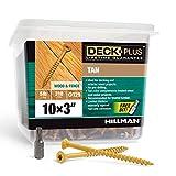 Hillman Fasteners 48419 Deck Screws, 5lb Box, Tan, 310 Count