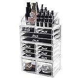 D4P Display4top Caja acrílica Estante de maquillajes Maquillaje Cosméticos Joyería Organizador...
