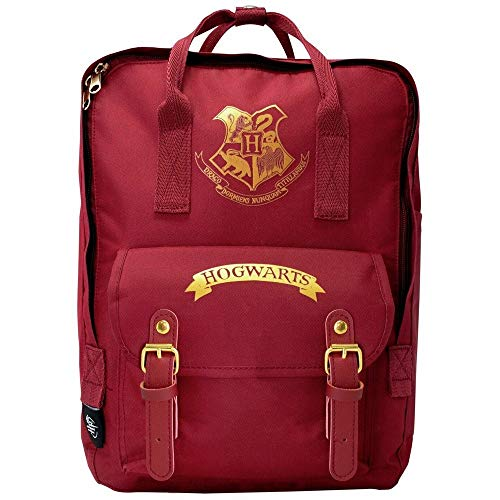 Blue Sky Studios Harry Potter - Mochila infantil Hogwarts para niños y niñas, unisex, mochila de lona para acampar, mochila espaciosa para dormir