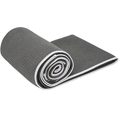 Shandali StickyfiberHot Yoga Towel - Silicone Backed Yoga...