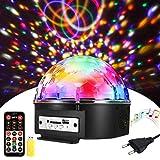 Boule Disco, SOLMORE Boule a Facette 9 Couleurs 18x18x15CM 18W Lampe de...