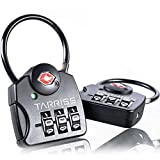 Tarriss TSA Luggage Lock with SearchAlert (2 Pack) (Midnight Black)