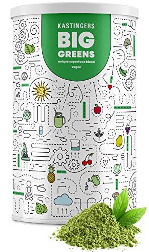 Kastingers® Big Greens Superfood Pulver I 600g I Greens Pulver aus Gerstengras, Weizengras, Spirulina, Chlorella, Acerola, OPC I vegan Smoothie Pulver