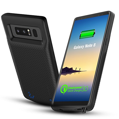 """(Updated Version) S9 Battery case w. QC 3.0, CASESSARY Protective Charger w. Priority Charge + Dynamic Power Management, 4500mAh Portable External Battery Pack Charge for Samsung Galaxy S9(5.8"""" Black)"""