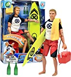 Click N' Play Sports & Adventure Surfer 12' Action Figure Play Set with Accessories