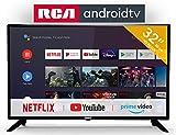 RCA RS32H2 Android TV (32 Pouces HD Smart TV avec Google Assistant), Chromecast intégré, HDMI, USB, WiFi, Bluetooth, Triple Tuner, télécommande vocale