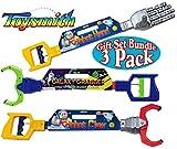 Toysmith Galaxy Grabber, Robot Hand & Robot Claw Gift Set Bundle - 3 Pack