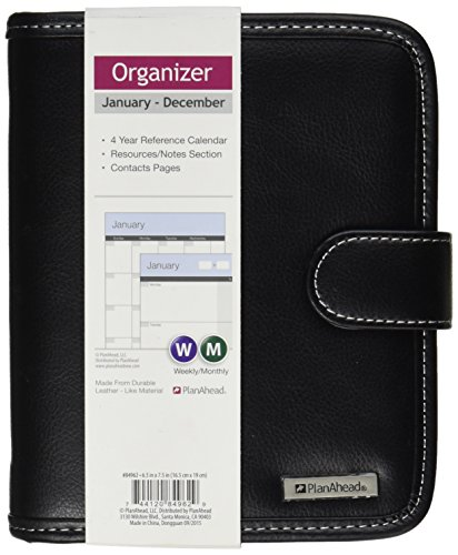 PlanAhead Deluxe Organizer; Small Undated January - December Monthly/Weekly Organizer
