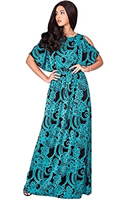Plus size Green & Black maxi dress for woman; full figure dress for curvy lady; comfy stretchy apparel garments; slimming and flattering clothing for pregnancy maternity baby shower long maxi dresses; comfortable larger size for big tall ladies Flowe...