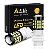 Alla Lighting 3157 LED Bulbs Super Bright 3156 3056 3057 4157 3457 4057 LED Brake Stop, Back-up Reverse, Turn Signal Lights, DRL, Taillights, 6K Xenon White