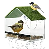 Window Bird Feeders with Strong Suction Cups-Window Bird Feeder for Outside with Artificial...