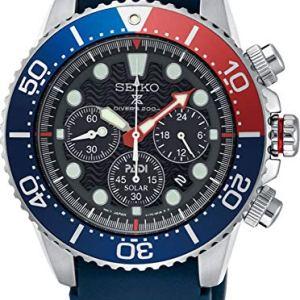 SEIKO PROSPEX PADI Special Edition Chronograph Solar Diver's 200M Pepsi Bezel SSC663P1 53