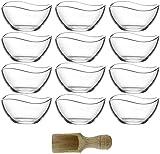 Lav 12-TLG. Glasschalen Vira 310ml Schalen Glasschale Dessertschale Vorspeise Glas Gläser inkl. Gewürzlöffel