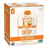 Mamma Chia Organic Energy Squeeze Snack, Tangerine Twist, Pack of 24, 24 count (Pack of 1)