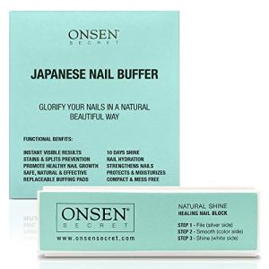 Onsen Professional Nail Buffer, Ultimate Shine Nail Buffing Block With 3 Way Buffing Methods, Smooth & Shine After Onsen… 58
