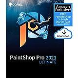 Corel PaintShop Pro 2021 Ultimate | Photo Editing & Graphic Design Software Plus Creative Collection | Amazon Exclusive 5-Brush Starter Pack [PC Download]