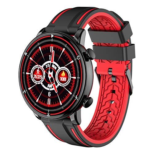 LTLGHY Smartwatch per Uomo Donna, 1,3 Pollici Bluetooth Smart Watch Cardiofrequenzimetro da Polso Schermo Colori Orologio Sportivo Calorie Activity Tracker,per Android iOS,Nero