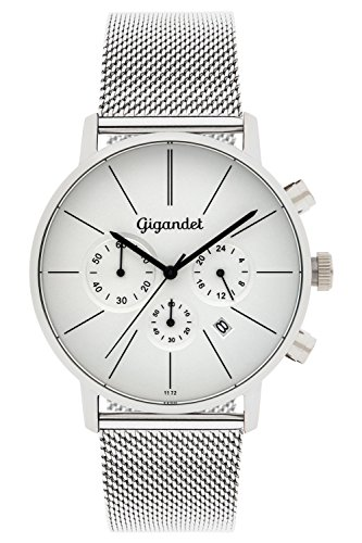 Gigandet Minimalism Herren-Armbanduhr Chronograph Quarz Analog mit Metallarmband G32-005
