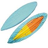 L R Kayak Cover Boat Canoe Storage - Canoe Cockpit Dust Cover,Waterproof UV Sunblock Shield Protector,Transport Shield Full Size,13.45-14.76ft