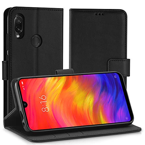 Simpeak Cover Compatibile per Xiaomi Redmi Note 7/ Redmi Note 7 PRO/Note 7S 6,3', Custodia Compatibile con Redmi Note 7 in Pelle Portafoglio con Supporto[Supporto Stand] [Chiusura Magnetica], Nero